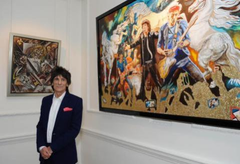 Ronnie Wood @ The  Castle Fine Art on Bruton Street, London